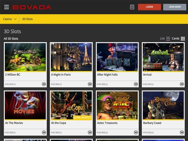 Bovada Casino Online