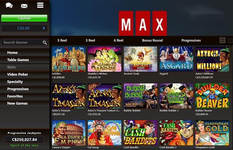 CasinoMAX Casino Games