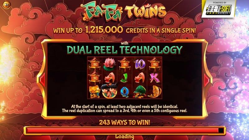 Fa Fa Twins Slot Machine Info Screen