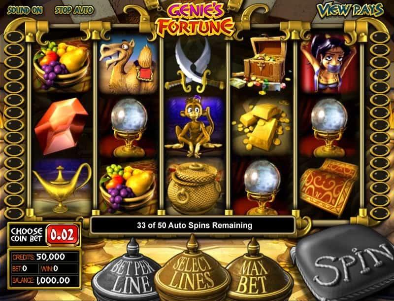 Genies Fortune Slot Machine