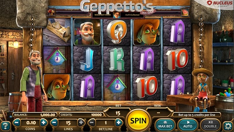 Geppetto's Toy Shop Slot