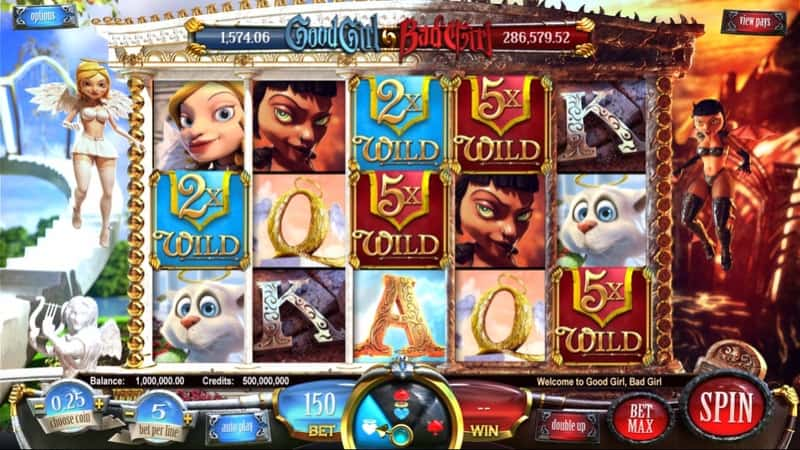 Good Girl Bad Girl Slot Machine Wild Feature