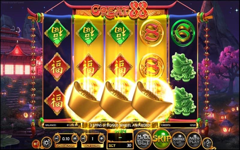 Great 88 Slot Machine Win