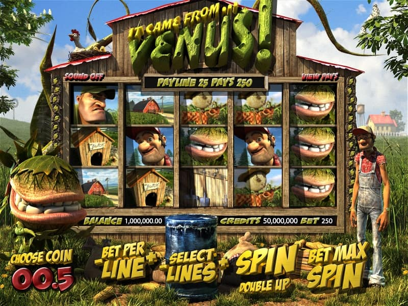 It Came From Venus Slot Machine Preview