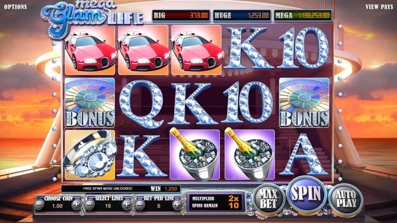 Mega Glam Life Slot Machine Free Spins