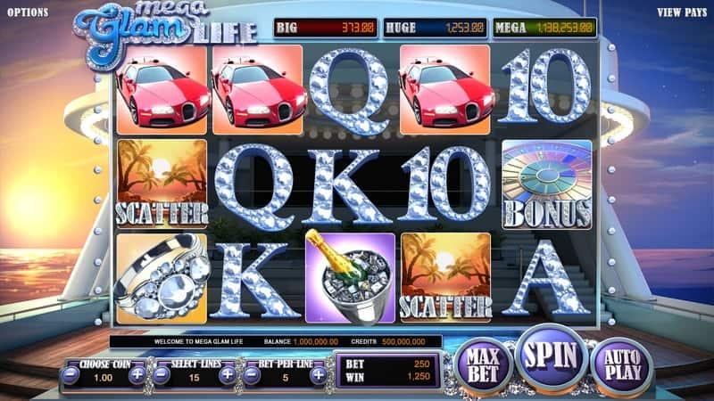 Mega Glam Life Slot Machine