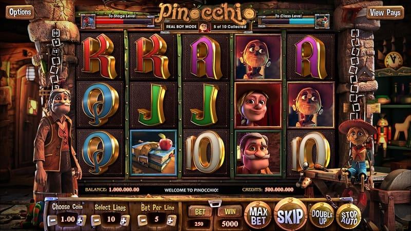 Pinocchio Slot Machine Workshop