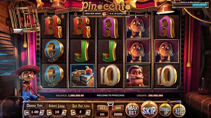 Pinocchio Slot Machine Stage
