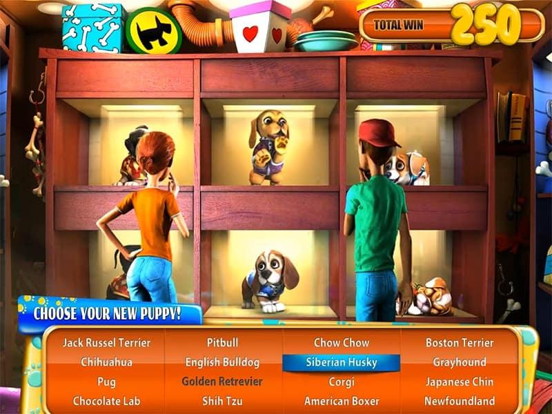 Puppy Love Slot Machine Bonus Round