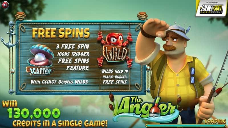 The Angler Slot Info Screen