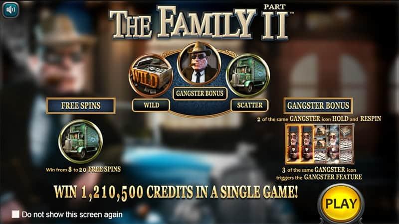 The Family Part II Slot Screen