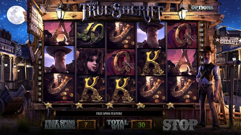The True Sheriff Slot Machine Free Spins