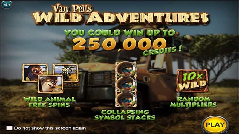 Van Pelts Wild Adventures Slot Screen